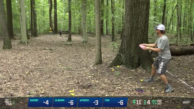 Watch 2018 Delaware Disc Golf Challenge | R1, B9, MPO | Gregg Barsby hole 11 putt GIF by Benn Wineka UWDG (@bennwineka) on Gfycat. Discover more Jomez Productions, Sports GIFs on Gfycat