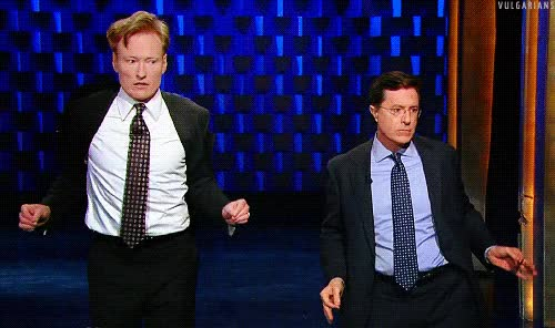 Watch and share Stephen Colbert GIFs and Conan O'brien GIFs by Reactions on Gfycat