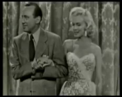 Watch this trending GIF on Gfycat. Discover more 1950\'s, Happy, Jack Benny, Marilyn Monroe, Old Days, Smiling GIFs on Gfycat