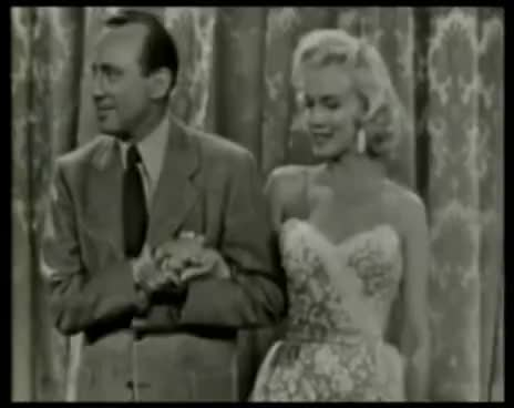 1950\'s, Happy, Jack Benny, Marilyn Monroe, Old Days, Smiling, Marilyn Monroe GIFs