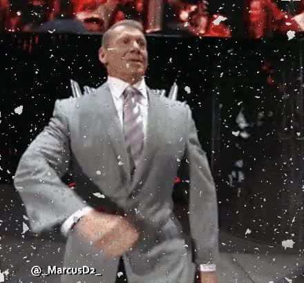 Watch and share Vince McMahon Reversed Strut When Seeing Snow GIFs by MarcusD on Gfycat