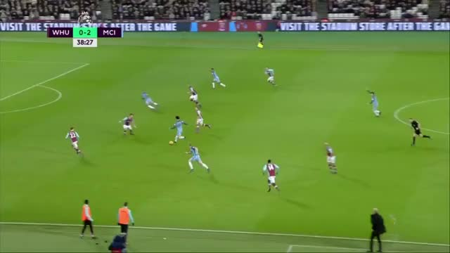 Watch and share Gabriel Jesus Scores Against West Ham (0-3) GIFs on Gfycat