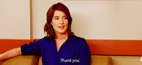 Watch and share Cobie Smulders GIFs and Thank You GIFs on Gfycat