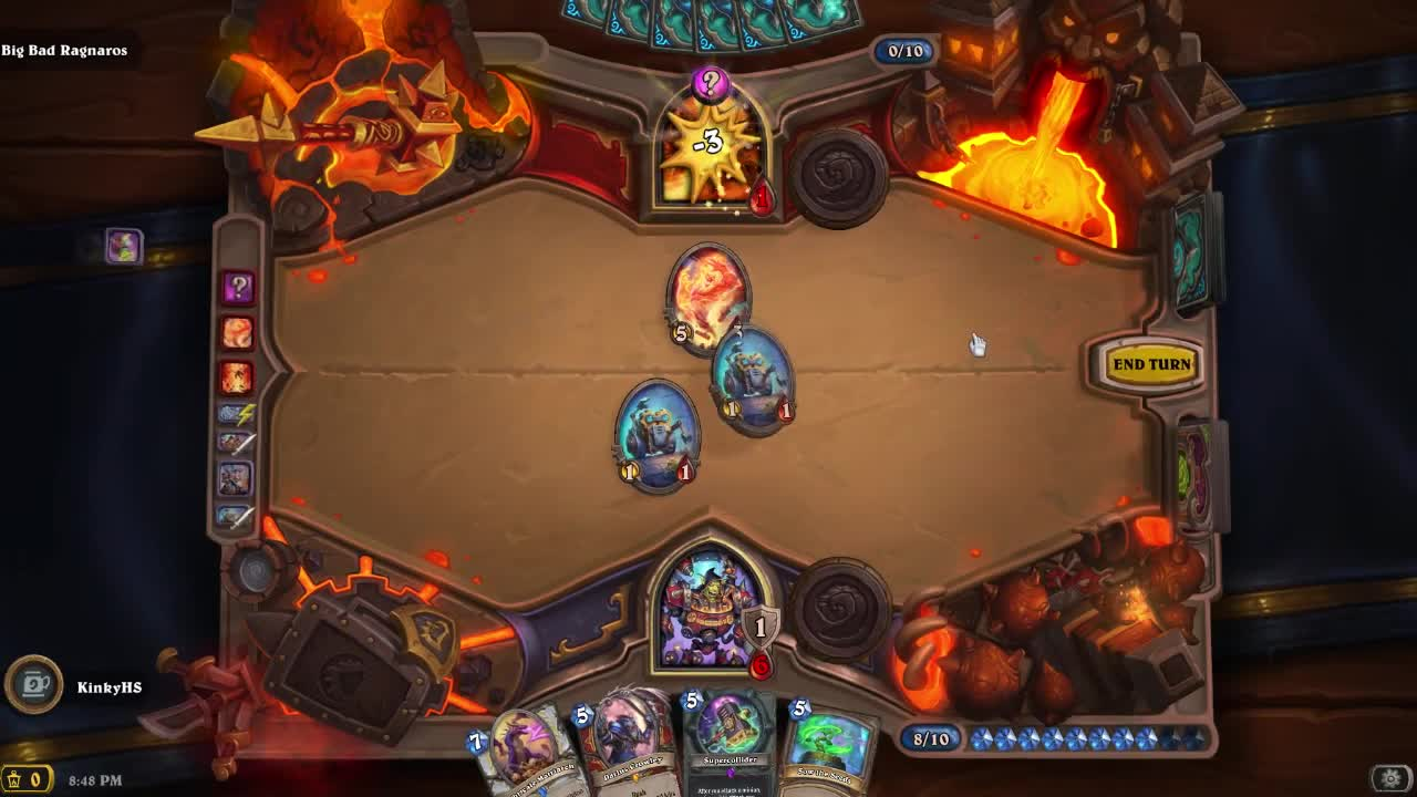 gaming, hearthstone, kinky gaming, Defeating Alone a 15,000 HP Ragnaros in Hearthstone New Fireside Gathering GIFs