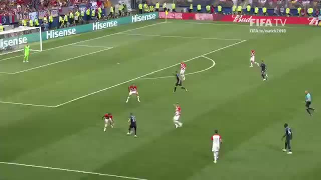 Watch and share Mbappe Goal Vs Croatia 2018 WC GIFs by FIFPRO Stats on Gfycat