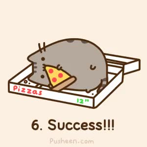 Watch and share Pusheen The Cat....this Is How I Feel When I Come Home From Work Famished And Then Gorge On Whatever Is In The Fridge. GIFs on Gfycat