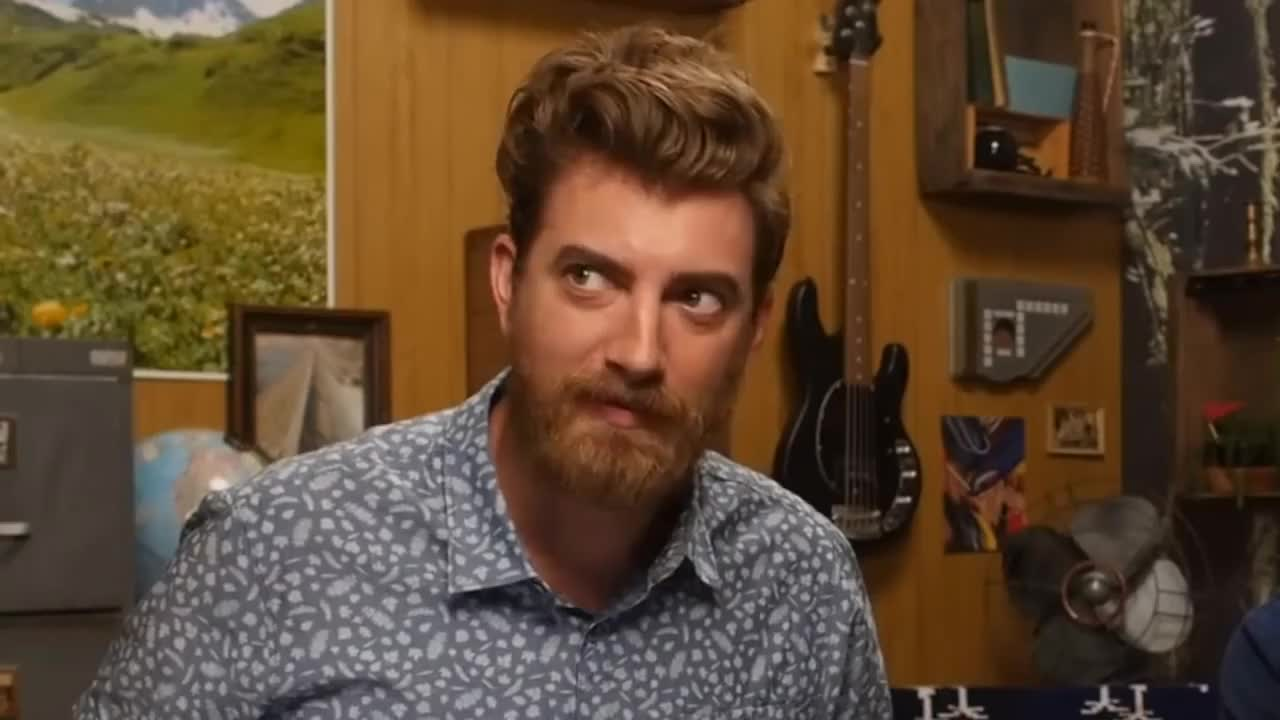 Gmm, celebs, rhett mclaughlin, youresoloud, link struggling for 7 minutes straight GIFs