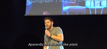+500, conventions, jensen ackles, jensenedit, jib6, jibcon 2015, misha collins, mishaedit, my edits, my gifs, spncastedit, they should drink apple juice at every con, I love snarky sarcastic Jensen [x] GIFs