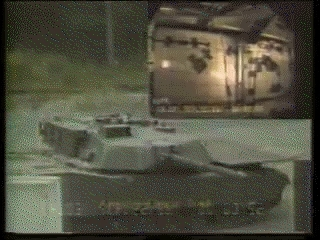 DestroyedTanks, combatfootage, This Abrams' turret was lifted off simply by the power of an IED, without a secondary explosion (reddit) GIFs