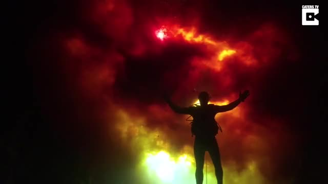Watch Diver Swims In 'Raging Fire' Waters GIF by @meskal on Gfycat. Discover more acid, americs, canyon GIFs on Gfycat