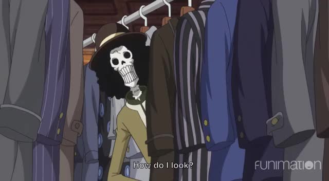 Watch looking sharp brook GIF by Funimation (@funimation) on Gfycat. Discover more One Piece, One Piece episode 827, OnePiece, anime, ep827, funimation, funny GIFs on Gfycat