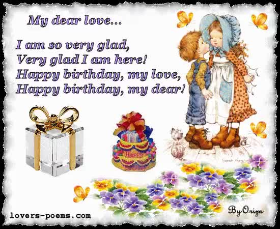 Watch and share Birthday Love Dad animated stickers on Gfycat