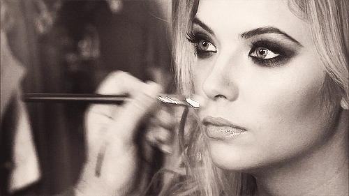 ashley benson, beauty, fav, haleb, hanna marin, love her, pll, pretty little liars, ashley benson smokey eye makeup GIFs