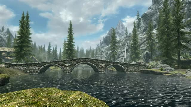 Watch Skyrim river tranquility GIF on Gfycat. Discover more skyrimporn GIFs on Gfycat