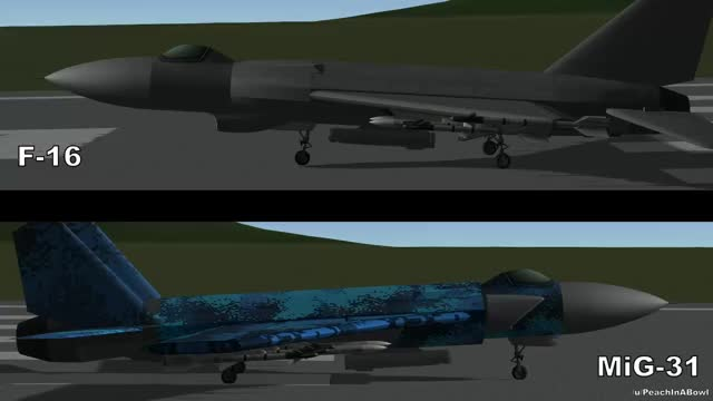Watch and share F-16 Vs MiG-31 - Kerbal Space Program - WarFighter Series GIFs by peachinabowl on Gfycat