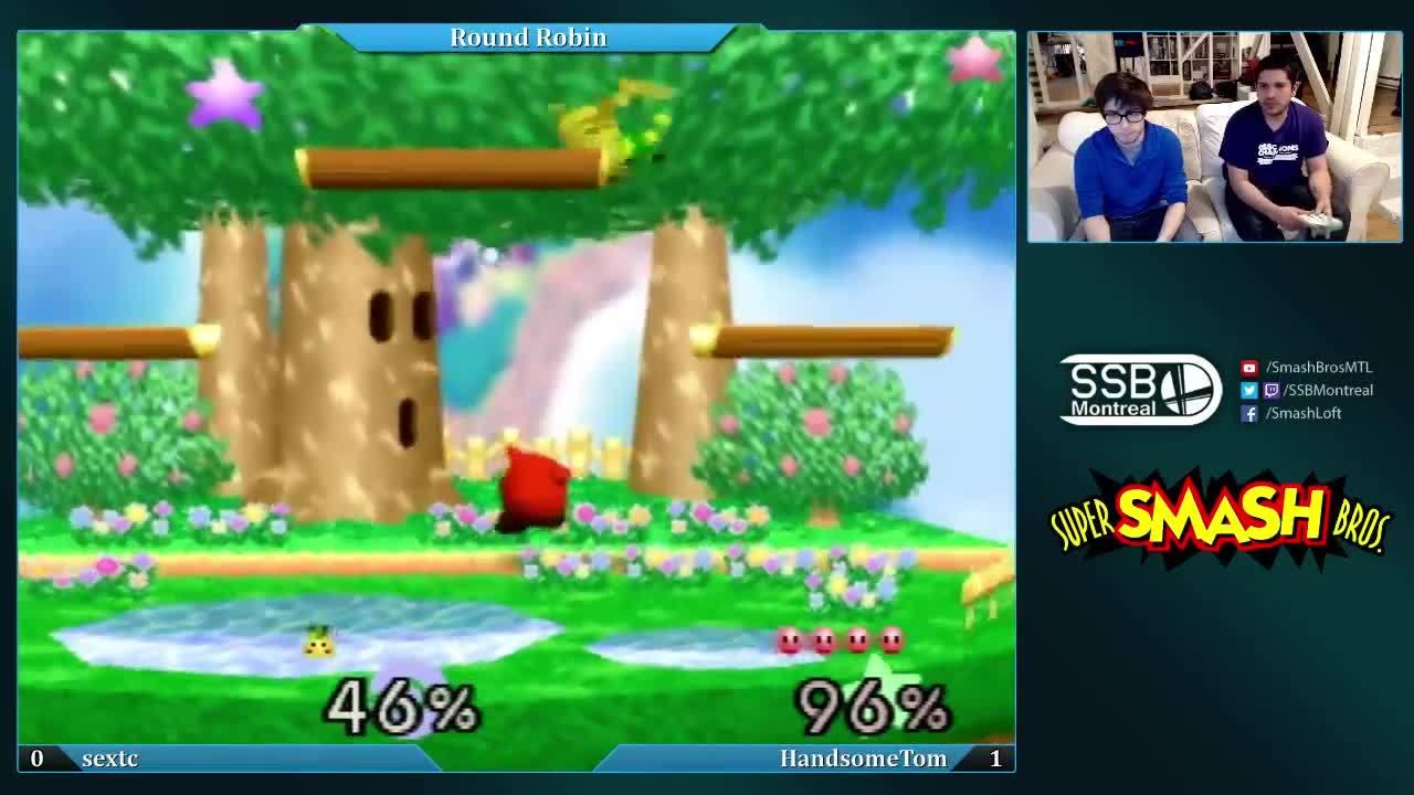 Smash, Smash Bros, Super Smash Bros, Revan (Kirby) vs HandsomeTom (Kirby) - SSB64 Weekly #58 GIFs