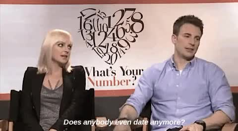 Watch this GIF on Gfycat. Discover more anna faris, avengers, captain america, captain america winter soldier, chris evans, dating, marvel, steve rogers, what's your number GIFs on Gfycat