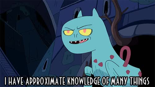 Watch approximate knowledge GIF by werwolf (@werwolfgfys) on Gfycat. Discover more adventure time, animated, animation, approximate, cartoon, dangerous, false, half, half knowledge, half truth, knowledge, lie, right, trivia, truth, understand, understanding GIFs on Gfycat