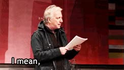 Watch and share Alan Rickman, What The Fuck GIFs on Gfycat
