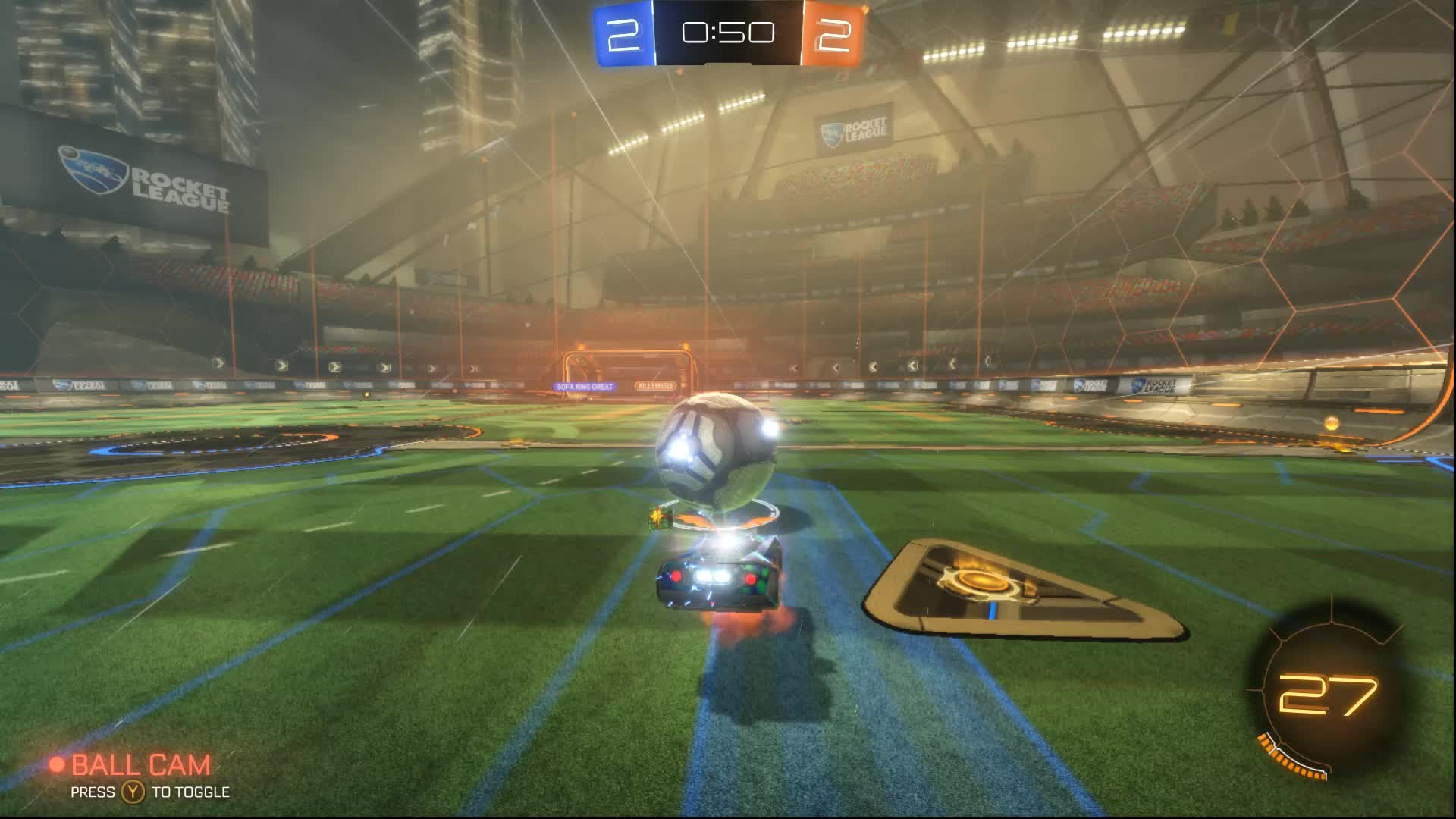 RocketLeague, double touch rocket league goal GIFs