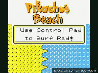 Surfing Pikachu GIFs