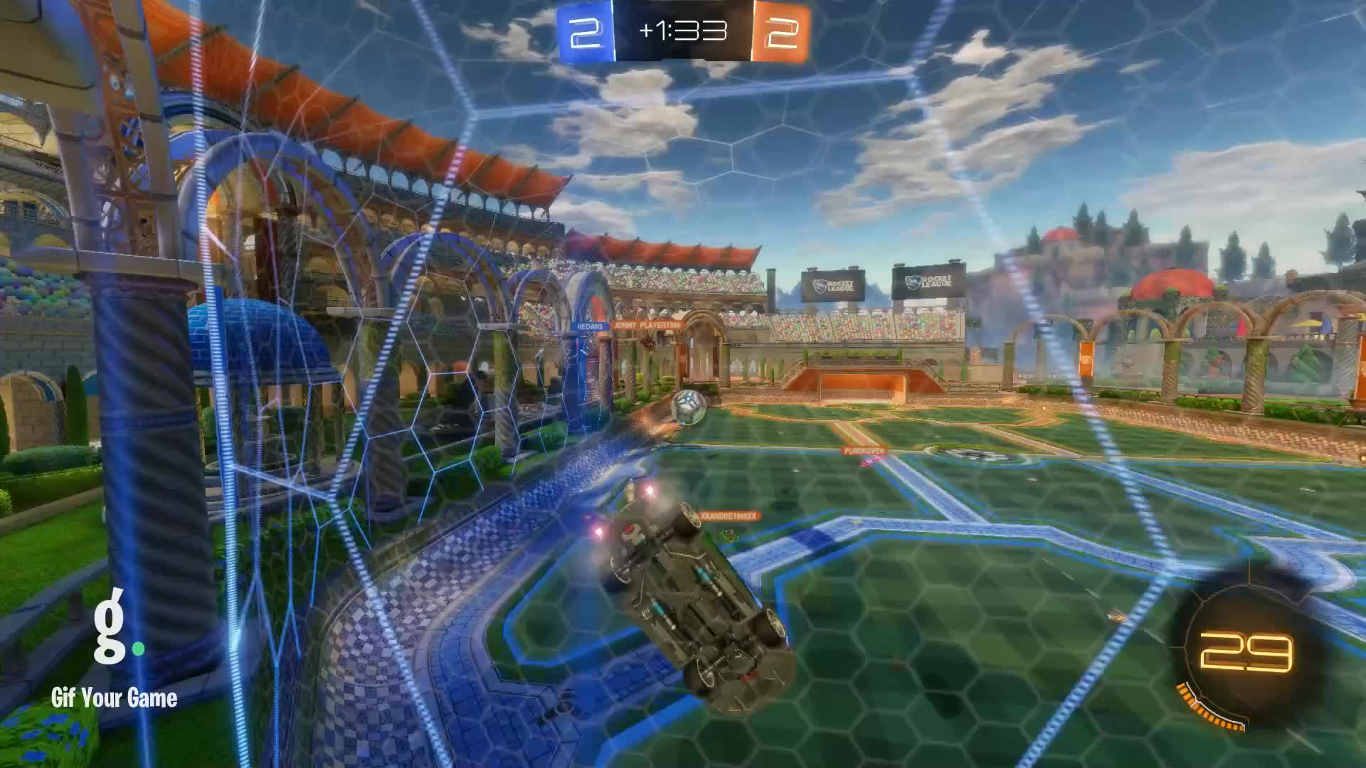 Gif Your Game, GifYourGame, Goal, Rocket League, RocketLeague, USSR Commander, Goal 5: USSR Commander GIFs