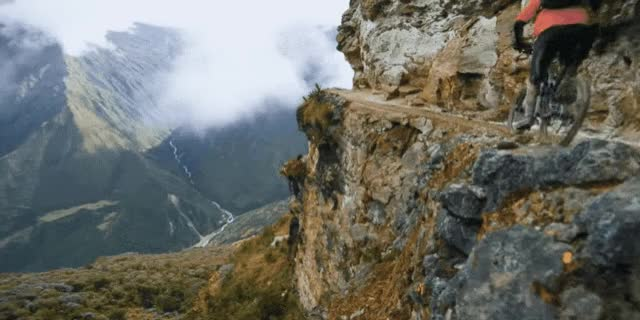 Watch and share See The Majestic Andes Mountains In One Stunning Bike Trip GIFs on Gfycat