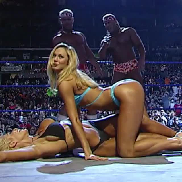 torrie Wilson and Stacy Keibler dancing around like sluts for us males to have a fun.