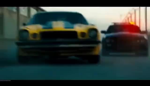Watch and share Bumblebee Vs. Barricade - Transformers-(2007) Movie Clip Blu-ray HD GIFs on Gfycat