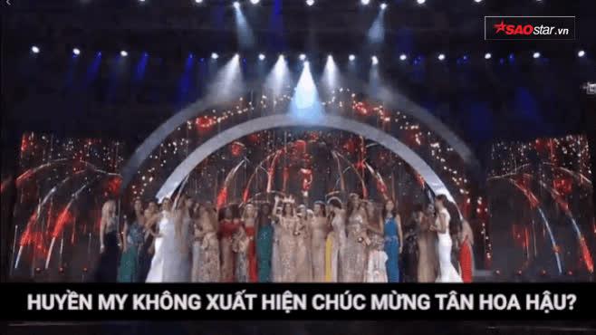 Huyền My không xuất hiện chúc mừng tân Hoa hậu, nhiều thí sinh rời sân khấu trước khoảnh khắc công bố
