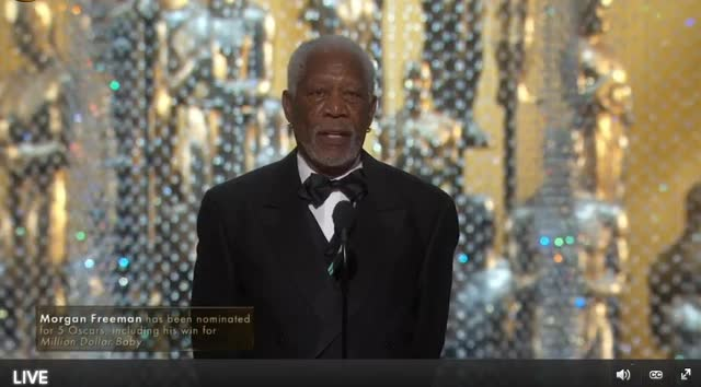Watch and share Morgan Freeman GIFs and Oscars GIFs by Reactions on Gfycat