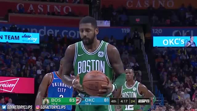 Watch Kyrie Irving SICK Full Highlights vs Thunder (2017.11.03) - 25 Pts, CRAZY 4th Qtr, CLUTCH! GIF on Gfycat. Discover more basketball, cavaliers, cleveland, golden state, kyrie irving, nba, rockets, sports, thunder okc, warriors, world GIFs on Gfycat
