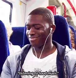 Watch and share Loud Music On Public Transport GIFs on Gfycat