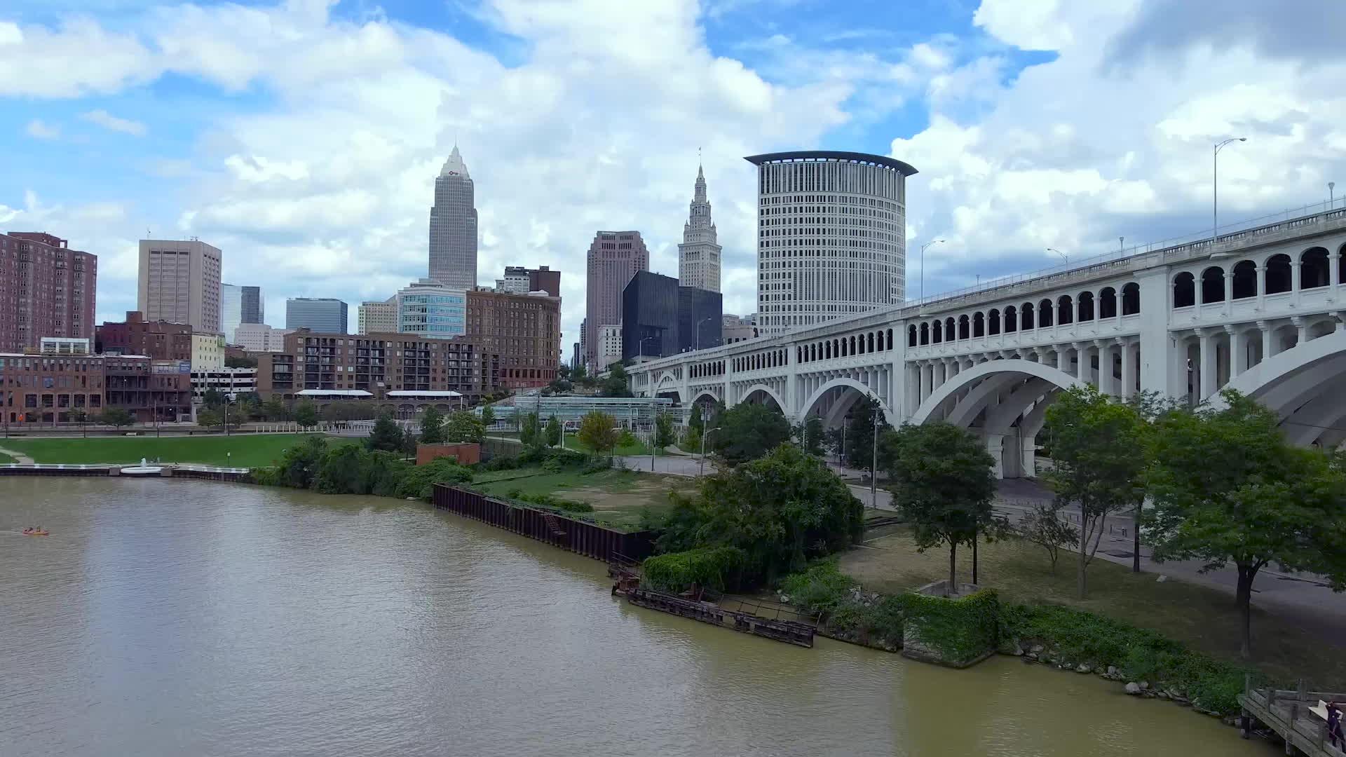 cleveland, djiphantom, Cleveland Day/Night Drone GIFs