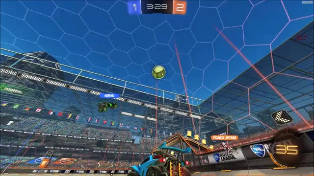 Watch and share Rocket League GIFs and Gamer Epic GIFs by skunkinablender on Gfycat