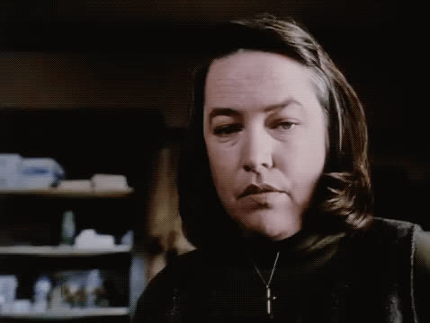 Kathy Bates, crazy, horror, insane, misery, psycho, stephen king, Kathy Bates - Misery GIFs