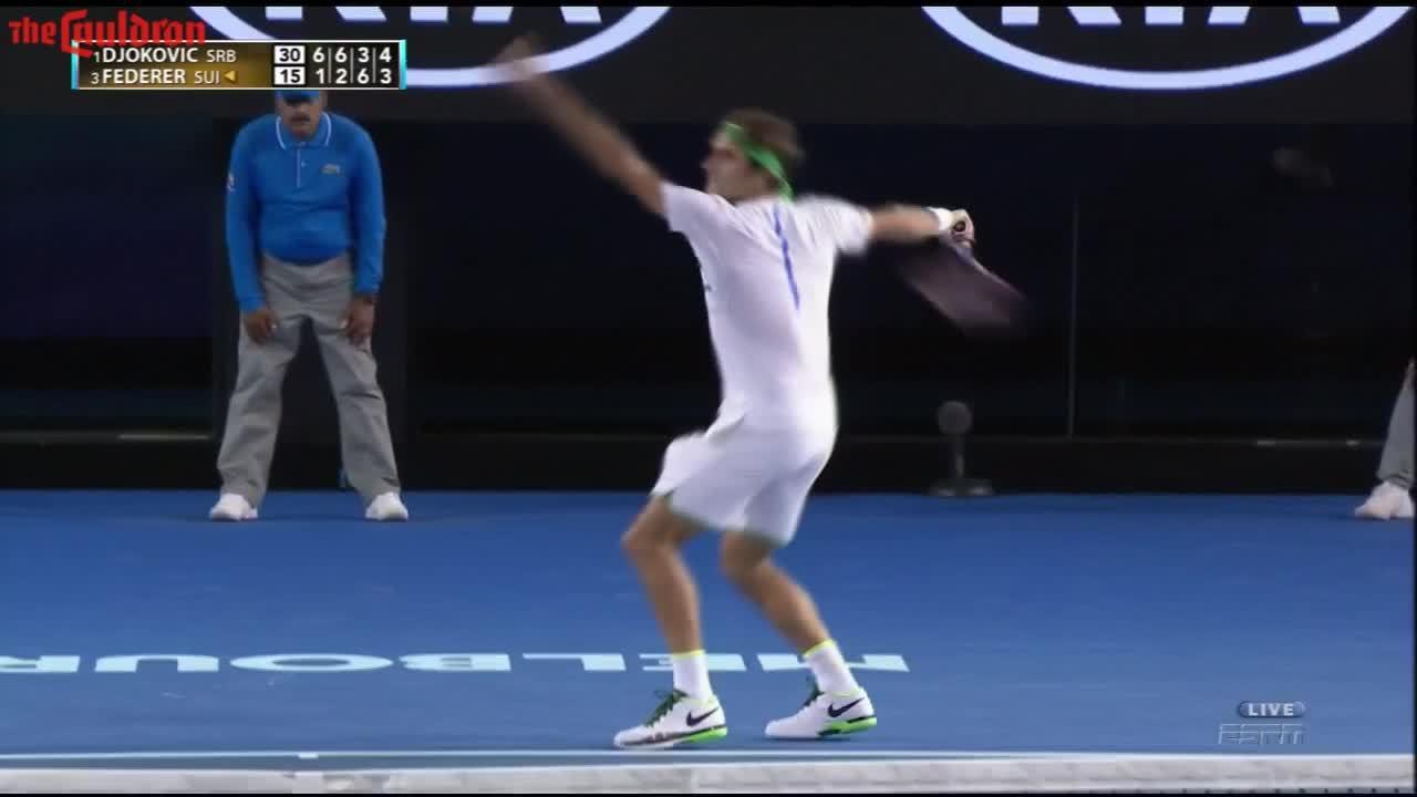 SuperAthleteGifs, superathletegifs, tennis, Epic Federer Djokovic Point - Streamable GIFs