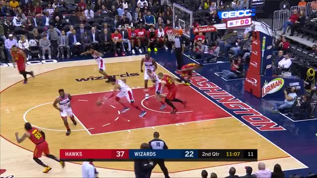 Watch Charge Taken GIF by @speedoflin on Gfycat. Discover more Atlanta Hawks, Washington Wizards, basketball GIFs on Gfycat