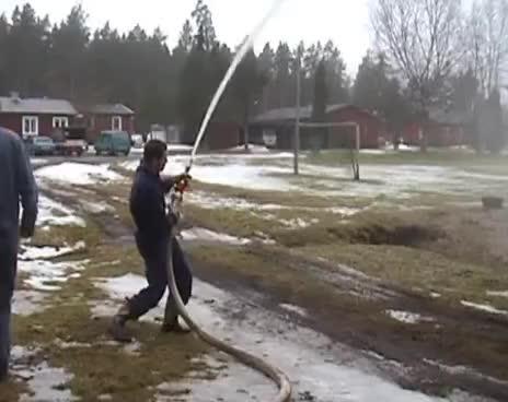 Fire hose training fail GIFs