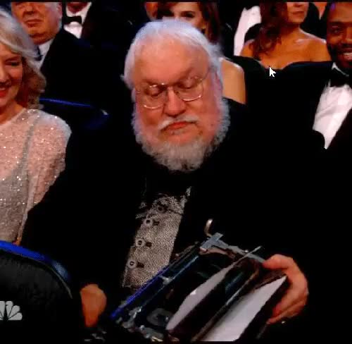 Watch this emmys GIF on Gfycat. Discover more emmys, game of thrones, george rr martin, gif GIFs on Gfycat