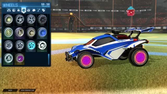 Watch and share Rocket League: Purple Zomba Wheels GIFs by andy on Gfycat