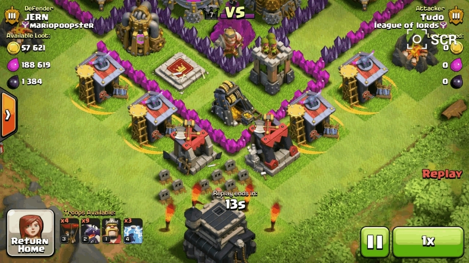 clashofclans, [Raid] someone tried to Snipe my townhall with a balloon. (reddit) GIFs