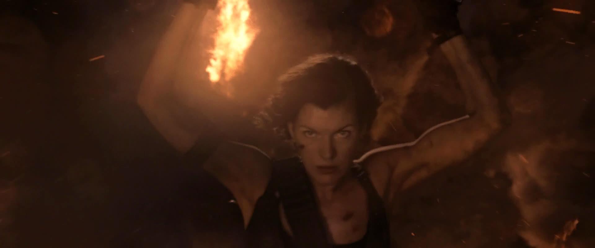 CelebrityArmpits, armpits, millajovovich, Milla Jovovich Resident Evil: The Final Chapter (2016) gif (reddit) GIFs