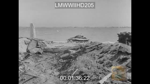 Watch and share Destroyed DD Shermans On The Normandy Beaches GIFs on Gfycat