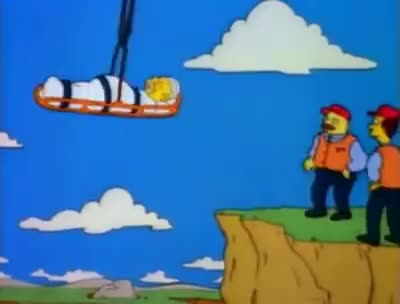 Watch and share Homero Simpson Cae De Ambulancia GIFs on Gfycat