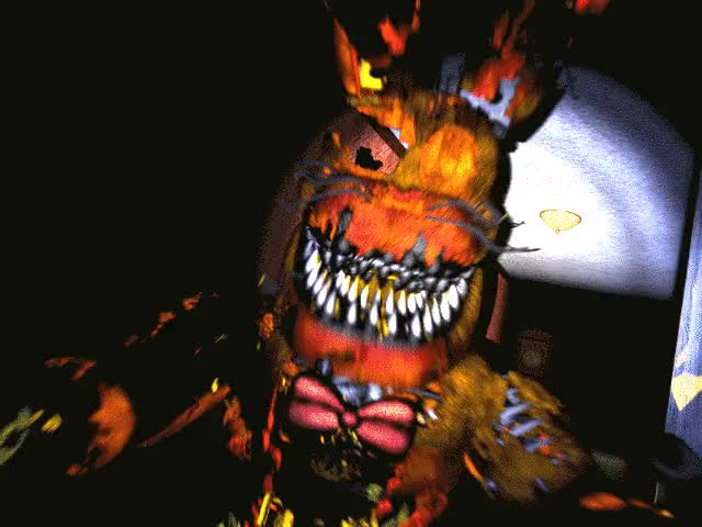 Watch and share FNaF4 - Jack-O-Bonnie Jumpscare (Pasillo Izquierdo - Iluminado).gif GIFs on Gfycat