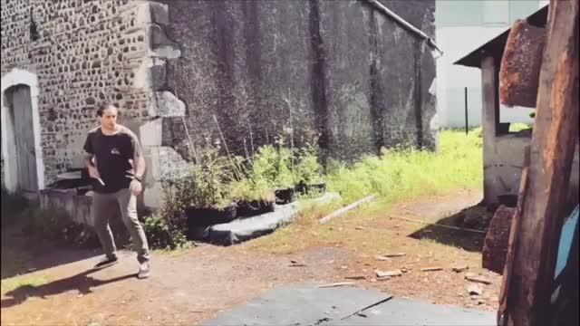 Watch Knife Thrower Kicks Blade Into Target  GIF by Slim Jones (@slimjones123) on Gfycat. Discover more related GIFs on Gfycat