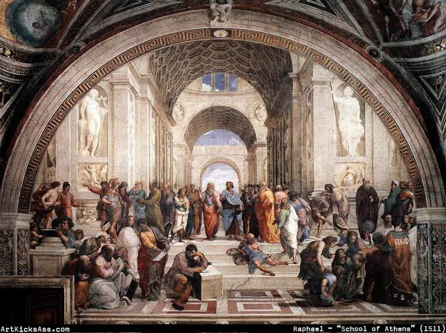 Watch and share Raphael – The School Of Athens GIFs on Gfycat