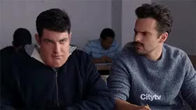 Watch and share Fat Vomiting Schmidt In Class GIFs on Gfycat