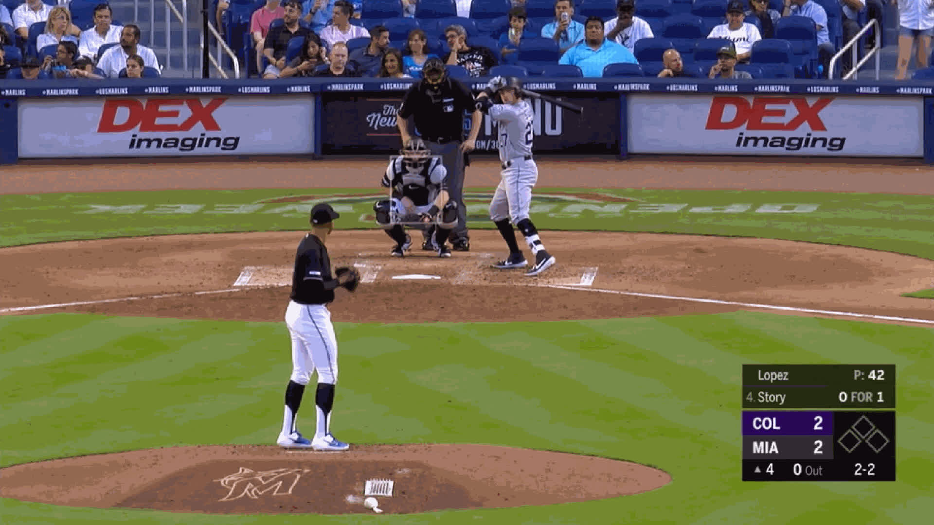 Colorado Rockies, Miami Marlins, baseball, Pablo Lopez-CH-87whiffkstory GIFs
